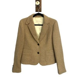 Banana Republic Wool Collared Blazer Beige Size 10